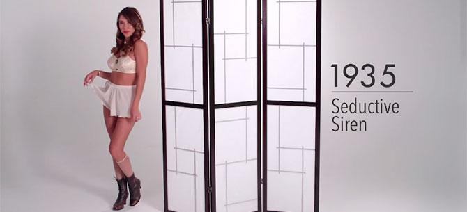 Banner para 100 anos de lingerie em 3 min