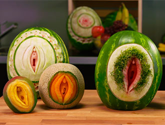 escultura-frutas
